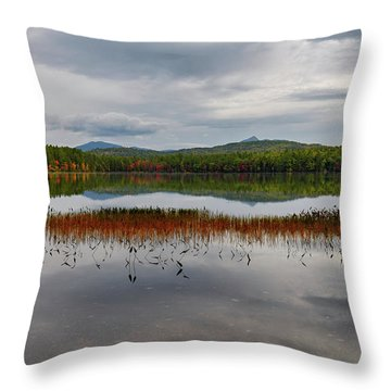 Throw Pillow featuring the photograph White Lake Fall Chocorua Nh by Michael Hubley