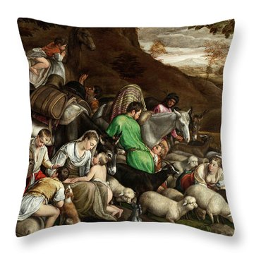 Throw Pillow featuring the photograph White Lambs by Munir Alawi