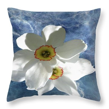 White Lightning Throw Pillow