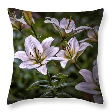 White Lilies #g5 Throw Pillow