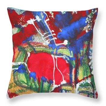 White Lines And Dots Throw Pillow