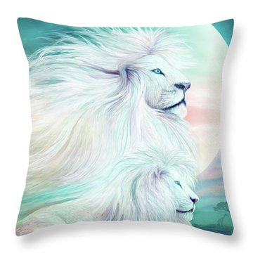 White Lion - Spirit King Throw Pillow