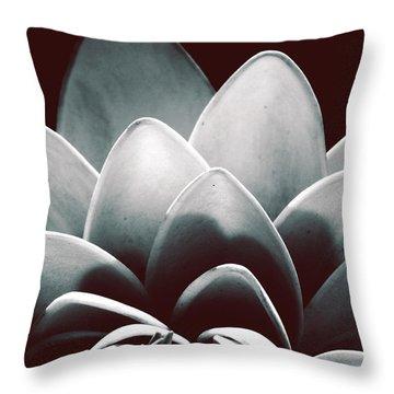 White Lotus At Dawn Throw Pillow