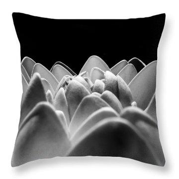 White Lotus In Night Throw Pillow by Sumit Mehndiratta