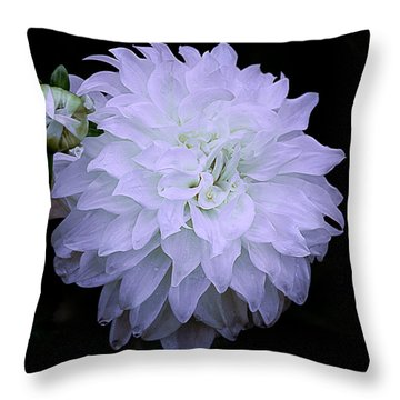 White Louie Meggos Dahlia Throw Pillow