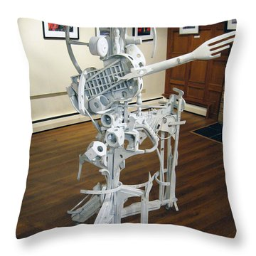 White Man Throw Pillow