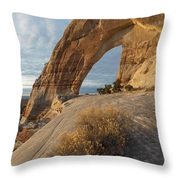 Throw Pillow featuring the photograph White Mesa Arch by Dustin LeFevre