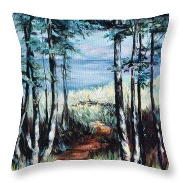 White Mountain Forest Throw Pillow