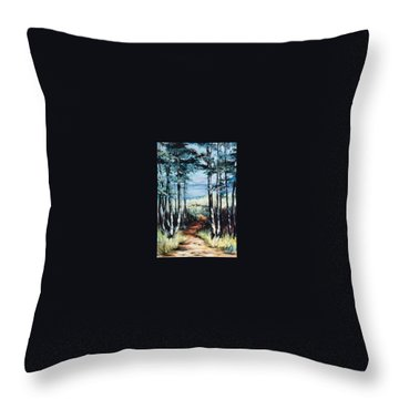 White Mountain Forest Throw Pillow