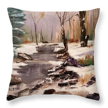 White Mountains Creek Throw Pillow