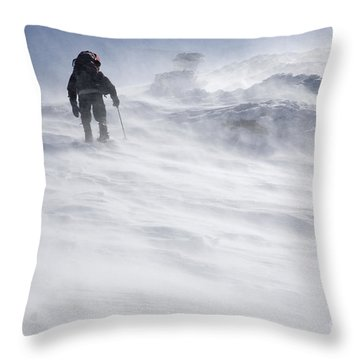 White Mountains New Hampshire - Extreme Weather Throw Pillow
