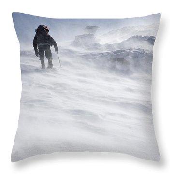White Mountains New Hampshire - Extreme Weather Throw Pillow