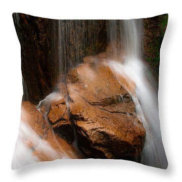 Throw Pillow featuring the photograph White Mountains Waterfall by Jason Moynihan