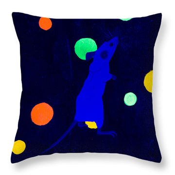 White Mouse Uv Throw Pillow