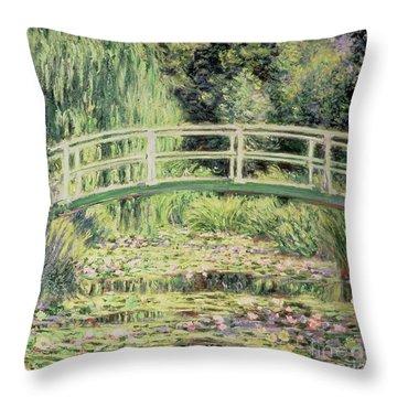White Nenuphars Throw Pillow by Claude Monet