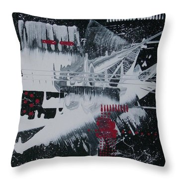 White Noise #1 Throw Pillow