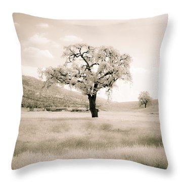 White Oak Throw Pillow