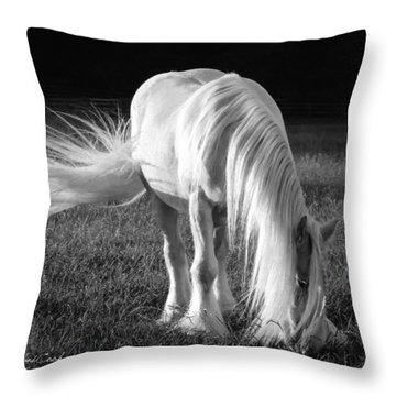 White On Black And White Throw Pillow