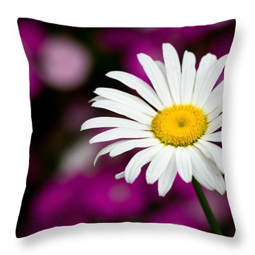 White On Pink Throw Pillow