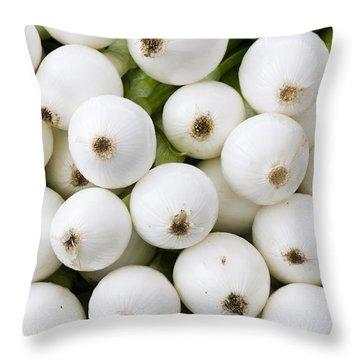 White Onions Throw Pillow by John Trax