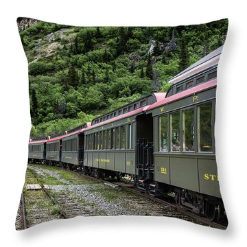 White Pass And Yukon Railway Throw Pillow