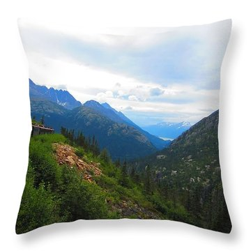 White Pass Rail Road Throw Pillow