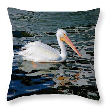 White Pelican, Too Throw Pillow