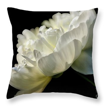 White Peony In The Light Throw Pillow