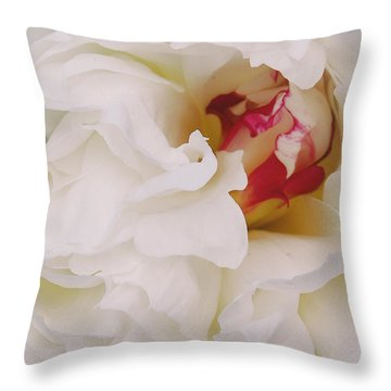 White Petals Throw Pillow by Michael Peychich