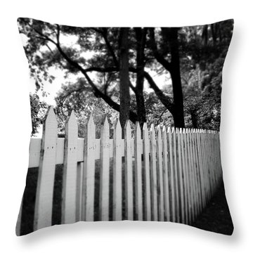 White Picket Fence- By Linda Woods Throw Pillow