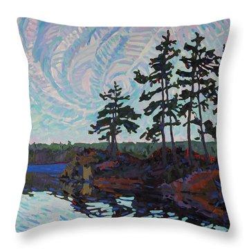 White Pine Island Throw Pillow