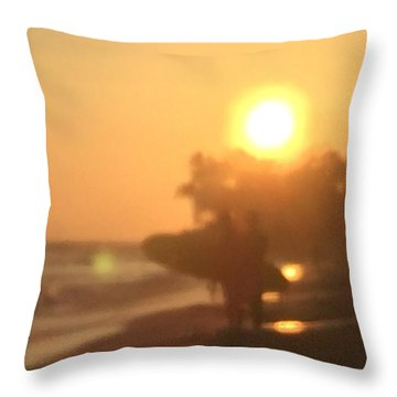 White Plains Beach Throw Pillow