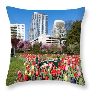 White Plains Beautification Foundation Garden Throw Pillow