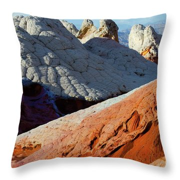 Throw Pillow featuring the photograph White Pocket 34 by Bob Christopher