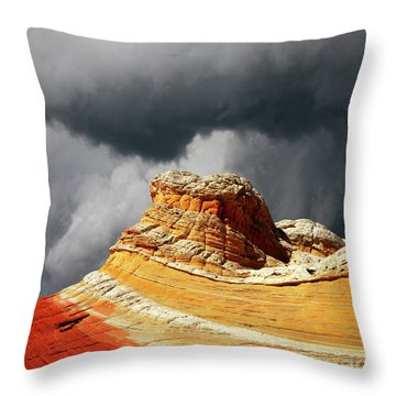 Throw Pillow featuring the photograph White Pocket 35 by Bob Christopher
