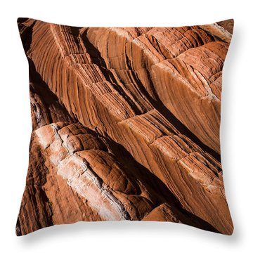 White Pocket Arizona Throw Pillow