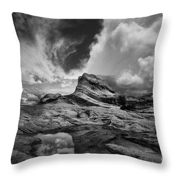 White Pocket - Black And White Throw Pillow