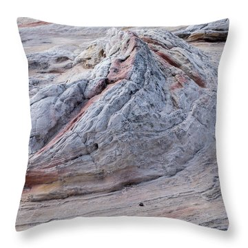 White Pocket Formation Throw Pillow