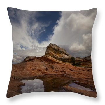White Pocket Throw Pillow