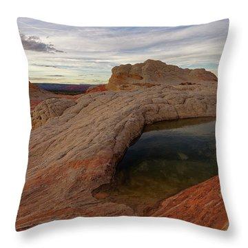 Throw Pillow featuring the photograph White Pocket Reflecton by Jonathan Davison