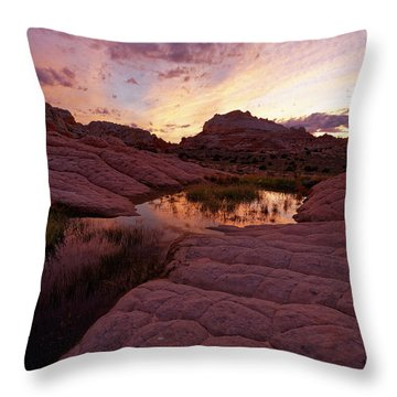 Throw Pillow featuring the photograph White Pocket Sunset by Jonathan Davison