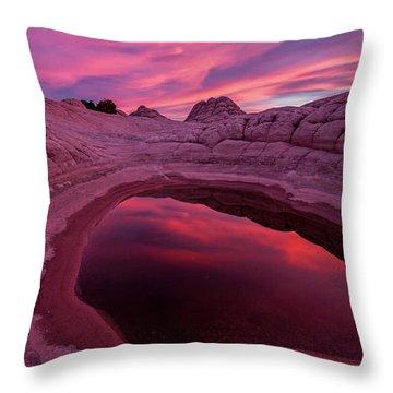 White Pocket Sunset Throw Pillow