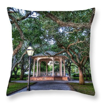White Point Gardens Throw Pillow