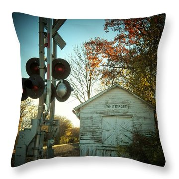 White Post Station Throw Pillow