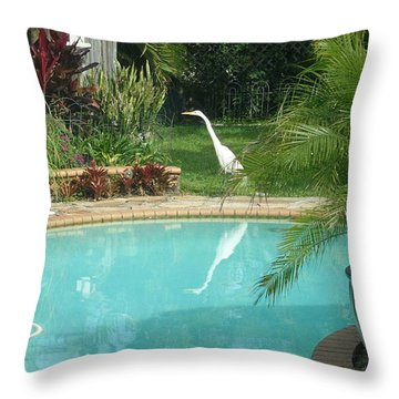 White Reflection Throw Pillow by Val Oconnor