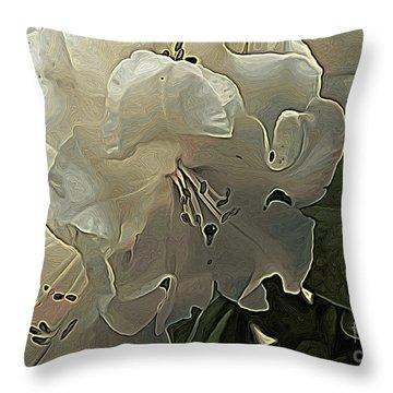White Rhodie Art Throw Pillow by Erica Hanel