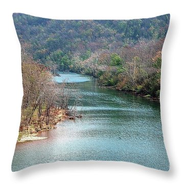 White River Throw Pillow by Kathleen Struckle