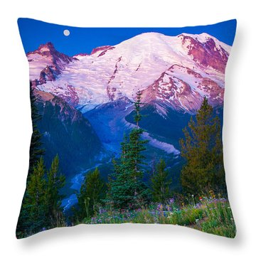 White River Predawn Throw Pillow by Inge Johnsson