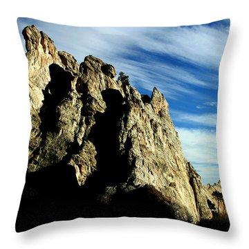 White Rocks Throw Pillow by Anthony Jones