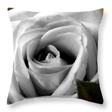Throw Pillow featuring the photograph White Rose 2 by Richard Ricci